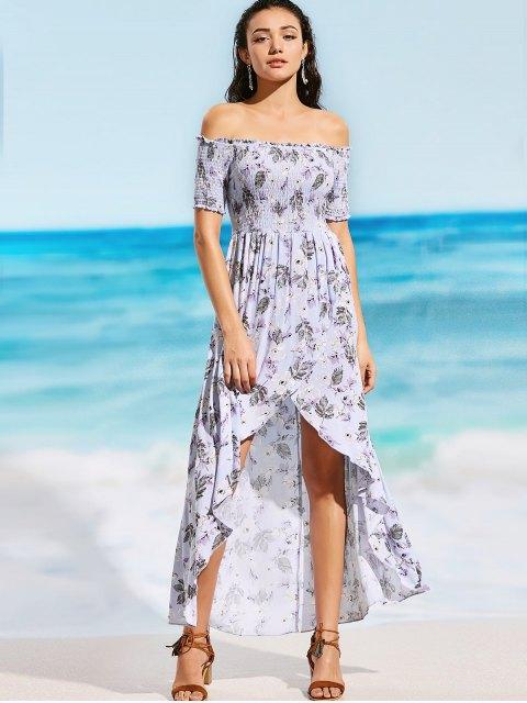 Robe de plage Maxi à rayures élastiques - Floral S Mobile