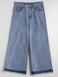 Ninth Belted Wide Leg Jeans - Denim Blue L