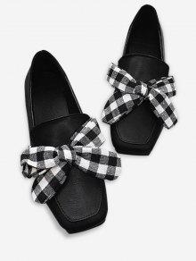 الانزلاق على بونوت ساحة اصبع القدم أحذية مسطحة - أسود 35