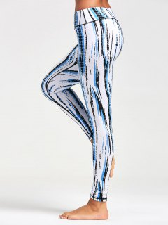 Ombre Printed Tight Leggings - White 2xl