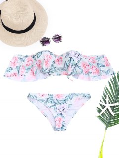 Floral Underwire Off The Shoulder Bikini Set - Floral S