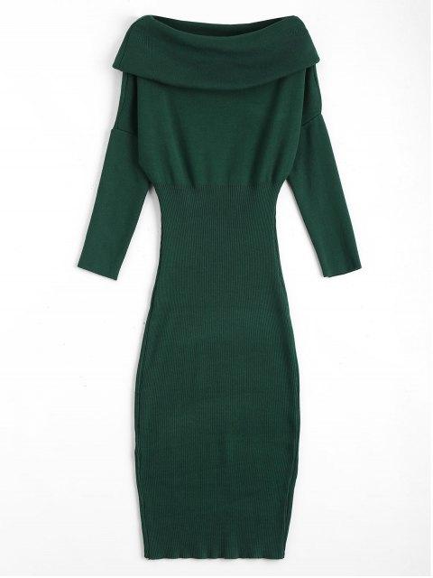Chevauchement de la robe de soirée - Vert TAILLE MOYENNE Mobile