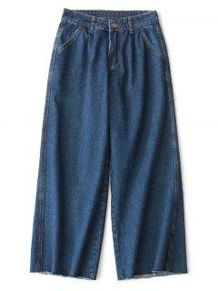 Ninth High Waisted Wide Leg Jeans - Denim Blue M