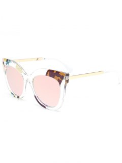 Color Pieces Butterfly Sunglasses - Pink