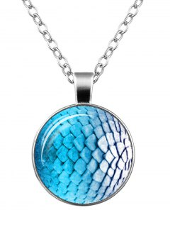 Dragon Scale Armor Charm Necklace - Silver