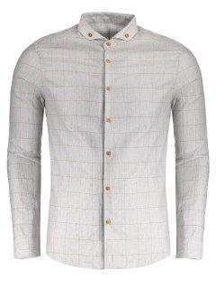 Chemise Boutonnée à Carreaux - Gris Xl