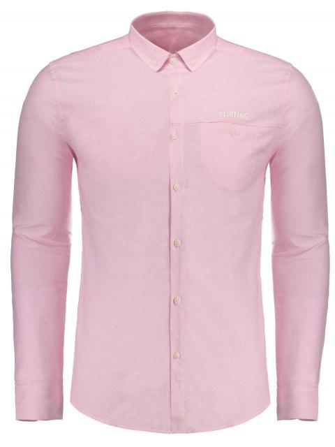 womens Flirting Graphic Button Down Shirt - PAPAYA XL Mobile