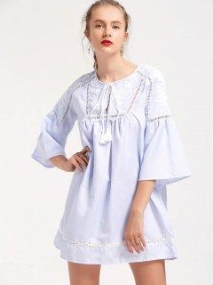 Mini Robe Brodée à Rayures - Rayure S