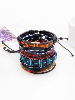 Bohemian Layered Faux Leather Woven Bracelet