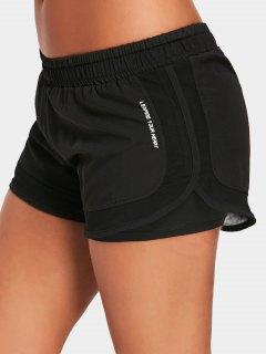 Mesh Double Layered Running Shorts - Black M