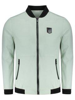 Waterproof Zipper Jacket - Light Green 4xl
