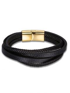 Bracelet En Cuir Multicouleur Bracelet En Faux Cuir - Noir