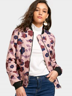 Zip Up Flower Pilot Jacket - Floral S