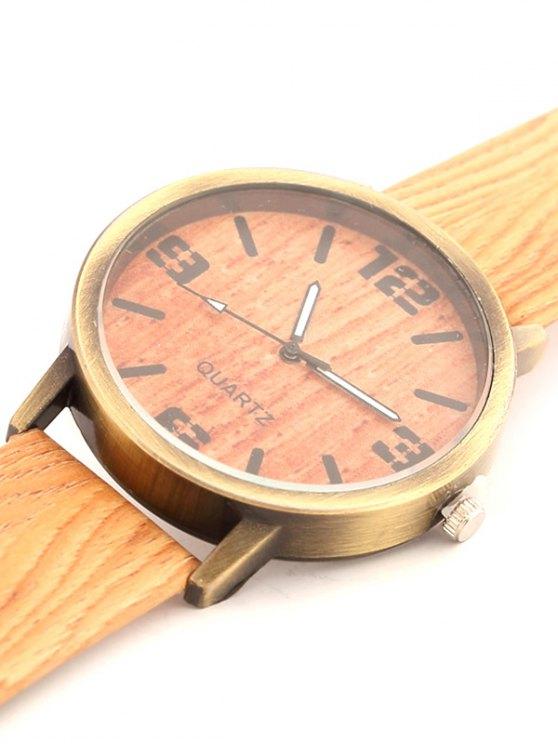 Wooden Pattern Watch - ORANGE  Mobile