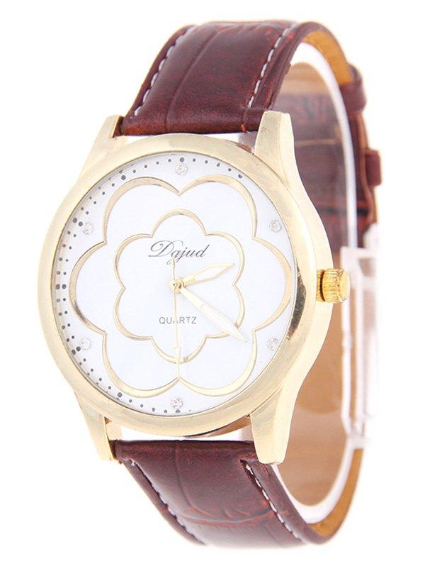 Vintage Rhinestone Floral Watch