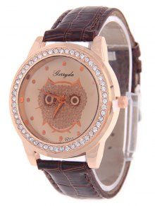 Buy Rhinestoned Owl Watch -