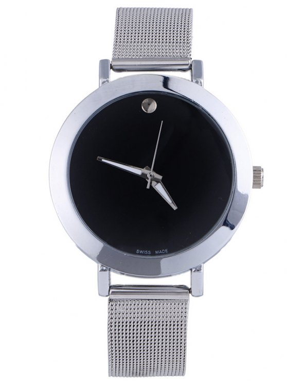 women's Alloy Adorn Quartz Watch - BLACK