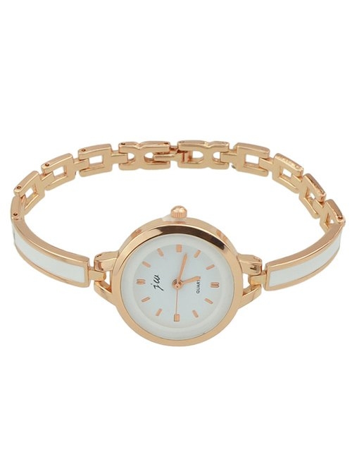 Round Dial Plate Alloy Chain Watch