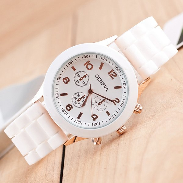 Silicone Strap Quartz Watch