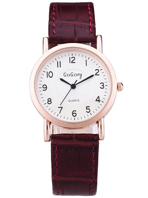 PU Leather Quartz Casual Watch
