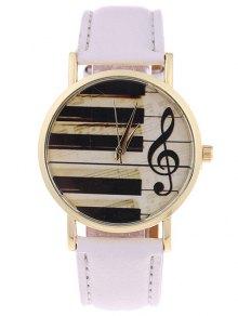 PU Leather Music Note Piano Key Watch