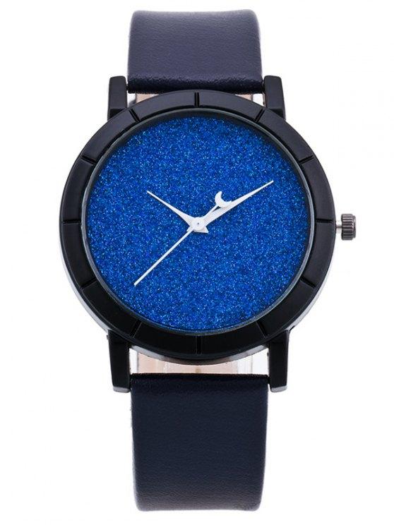 PU Leather Baby Breath Moon Quartz Watch - SAPPHIRE BLUE  Mobile