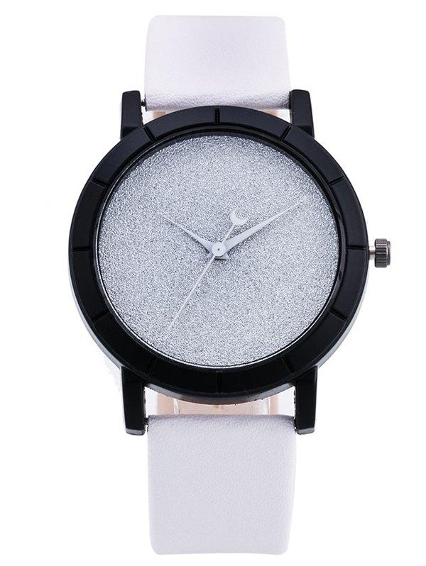 PU Leather Baby Breath Moon Quartz Watch