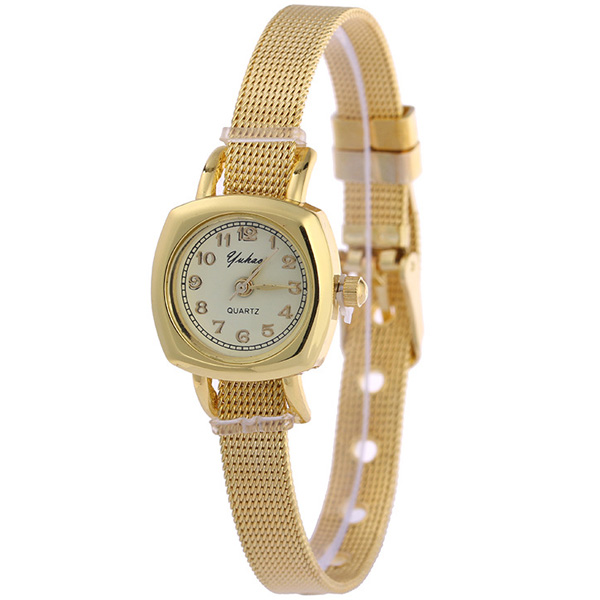 Geometric Dial Plate Alloy WatchBand Watch