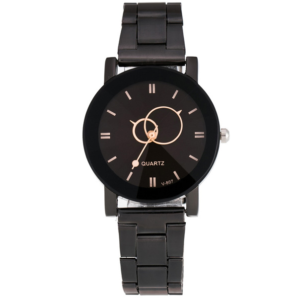 Circle Casual Steel Band Quartz Watch