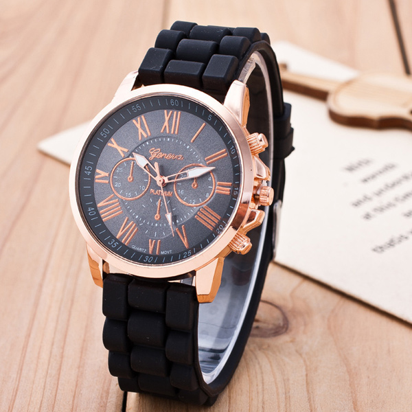 Roman Numerals Silicone Quartz Watch