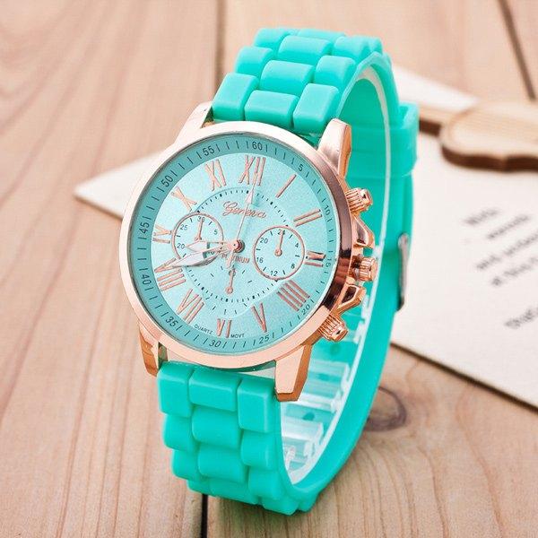 Roman Numerals Silicone Quartz Watch