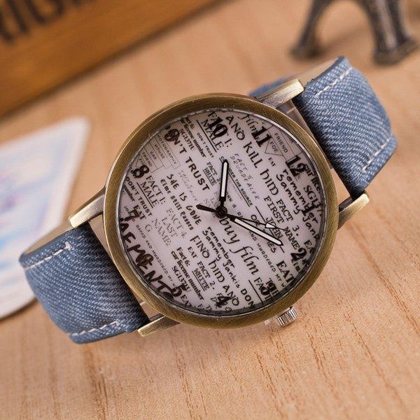 Artificial Leather Graffiti Pattern Quartz Watch