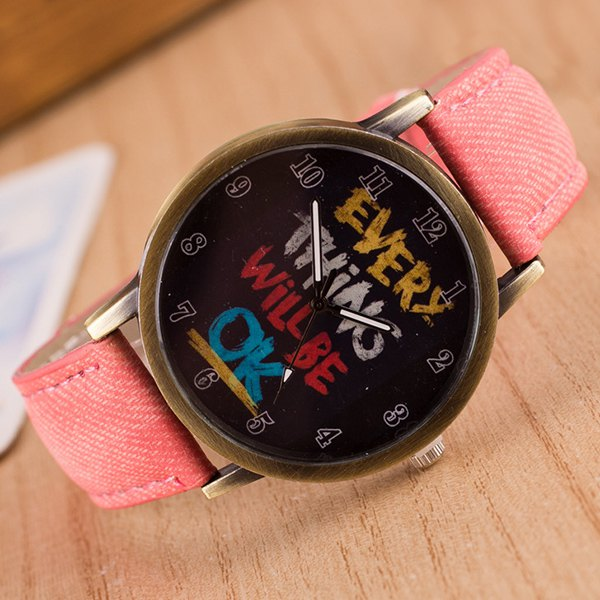 Vintage Graffiti Pattern Quartz Watch
