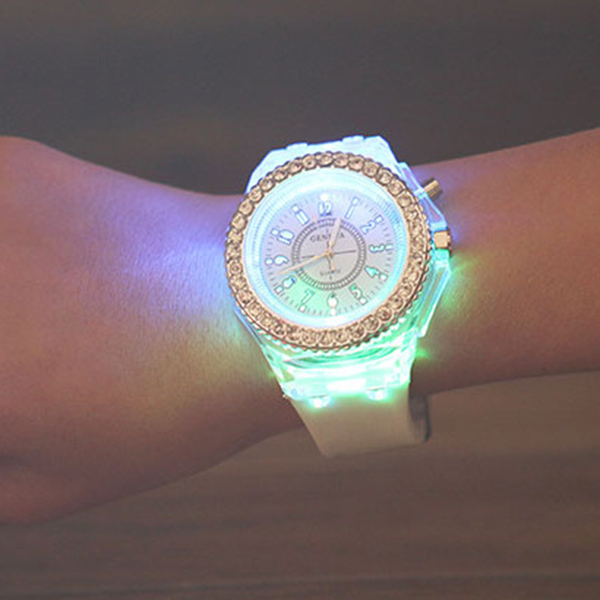 Rhinestone Silicone Quartz Watch