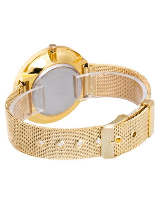 Soft Surface Mesh Belt Table Quartz Watch - CHAMPAGNE  Mobile