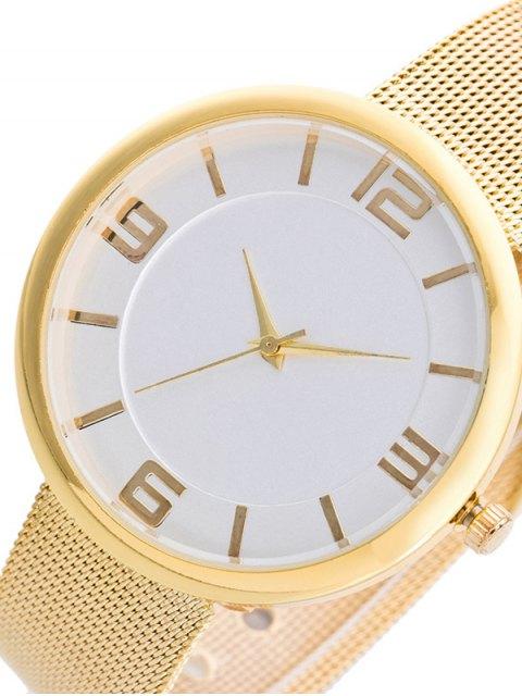 womens Soft Surface Mesh Belt Table Quartz Watch - CHAMPAGNE  Mobile