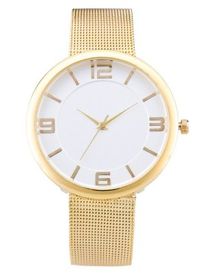 Soft Surface Mesh Belt Table Quartz Watch - Champagne