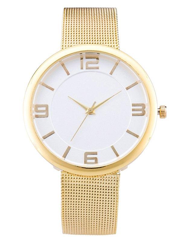 Soft Flat Surface Mesh Belt Table Quartz Watch