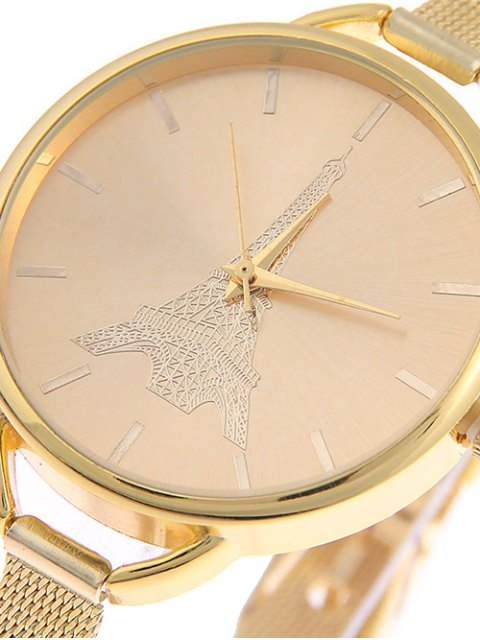 buy Eiffel Tower Quartz Alloy Watch - GOLDEN  Mobile