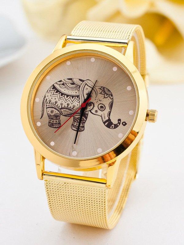 Bohemian Elephant Steel Band Quartz Watch
