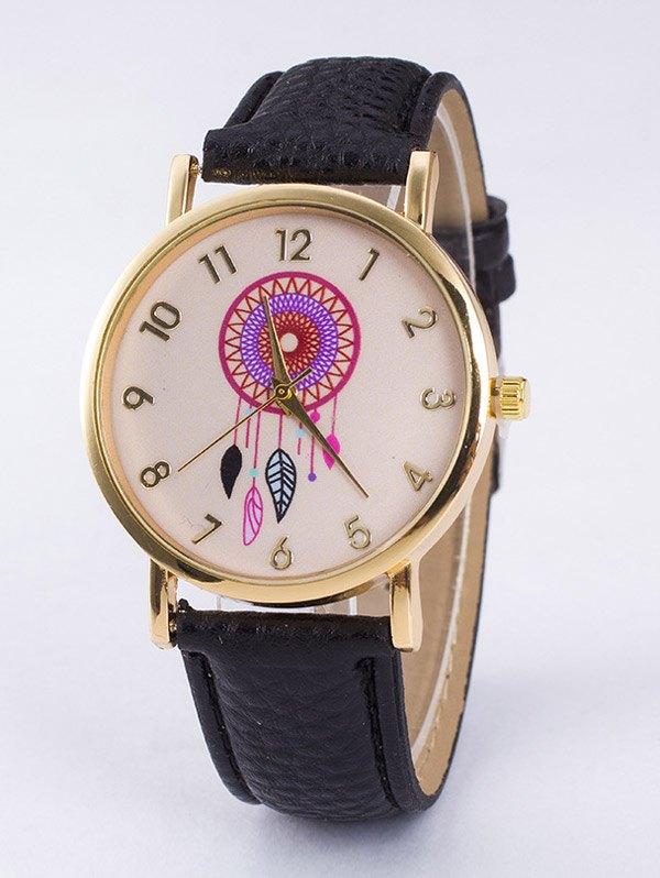 Bohemian Leaf PU Leather Quartz Watch