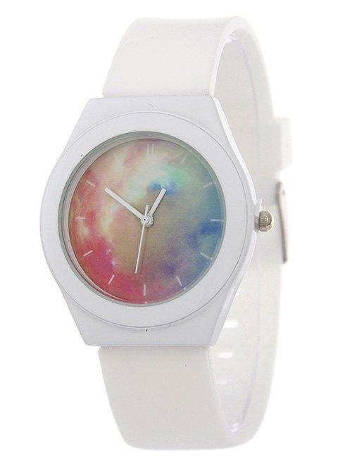 Starry Sky Pattern Silicone Quartz Watch