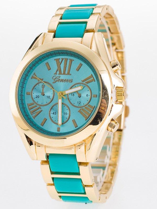 Roman Numerals Steel Band Quartz Watch