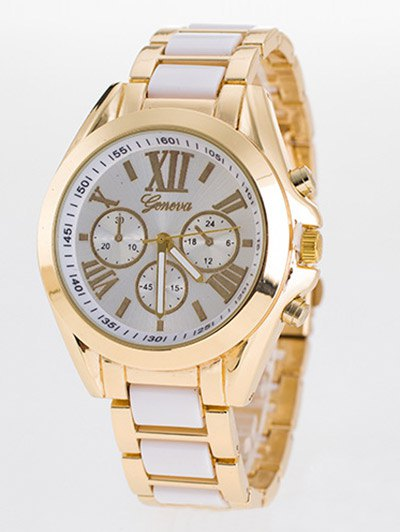 Roman Numerals Steel Band Quartz Watch