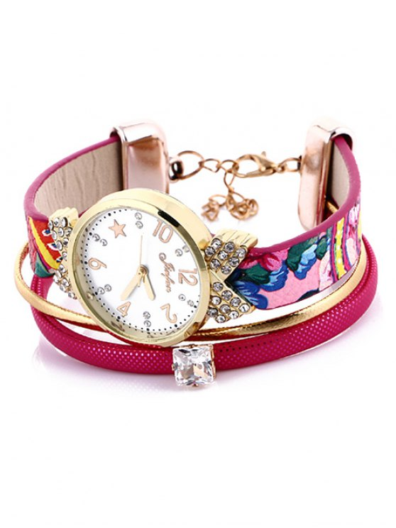 Faux Leather Wrist Watch -   Mobile