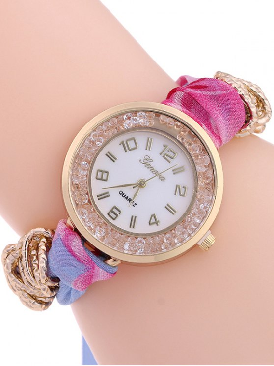 Gauze Braided Wrist Watch - AZURE  Mobile