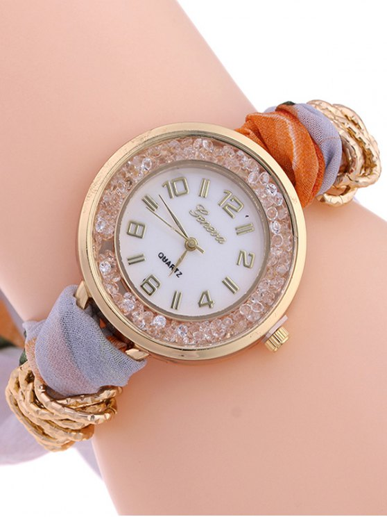 Gauze Braided Wrist Watch - LIGHT PURPLE  Mobile