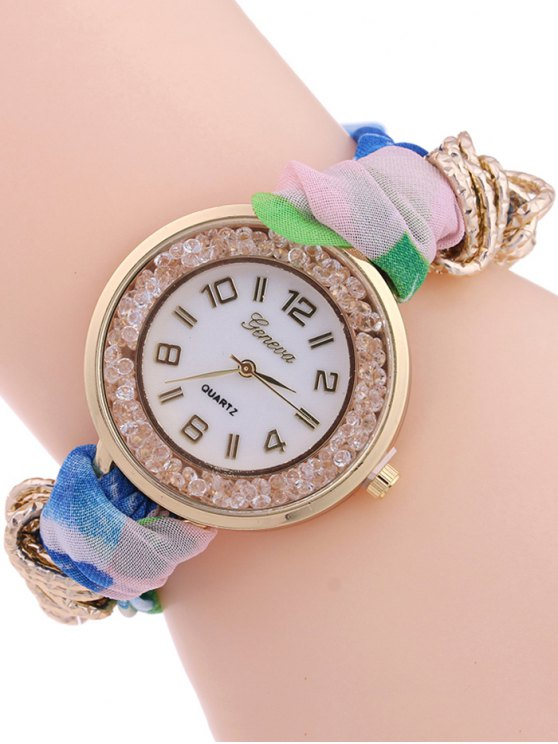 Gauze Braided Wrist Watch - SHALLOW PINK  Mobile