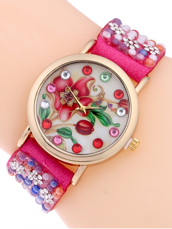 Studded Analog Bracelet Watch -   Mobile