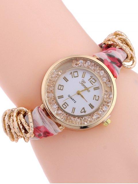 best Gauze Braided Wrist Watch - LIGHT RED  Mobile